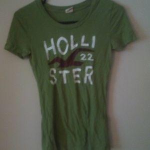 Hollister Green Logo Tee Size S